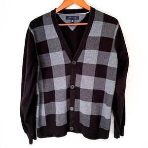 Tommy Hilfiger Buffalo Check Button Up Cardigan